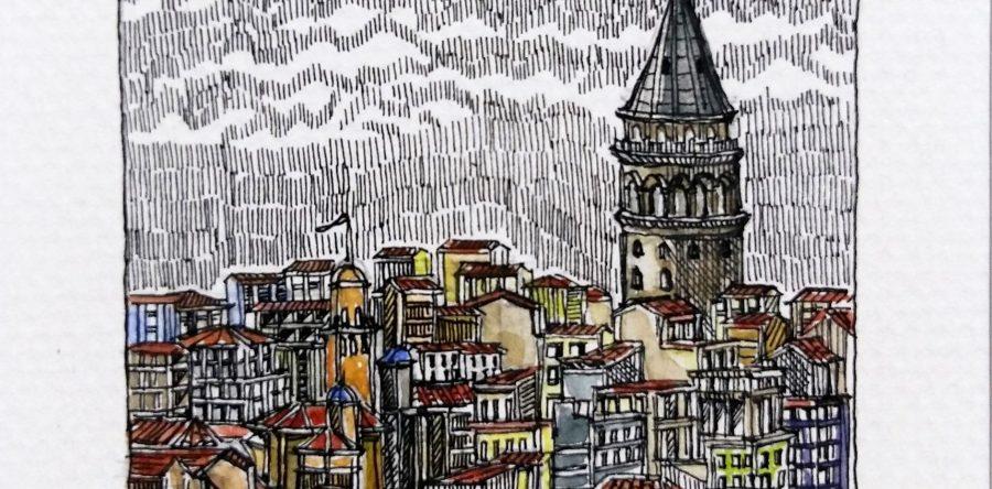 """Sümeyye Yuşan """"Kentsel Çizimler"""" Resim Sergisi"""