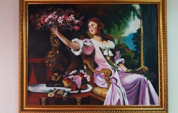 Kadın Ve Çiçek